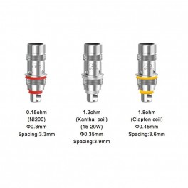 5 Résistances Aspire Mini Triton Ni200- 0.5 - 1.8 ohms