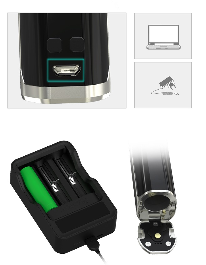 Sinuous mod 80W micro USB 2 A suisse