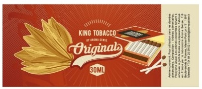King tobacco arome concentré e cigarette