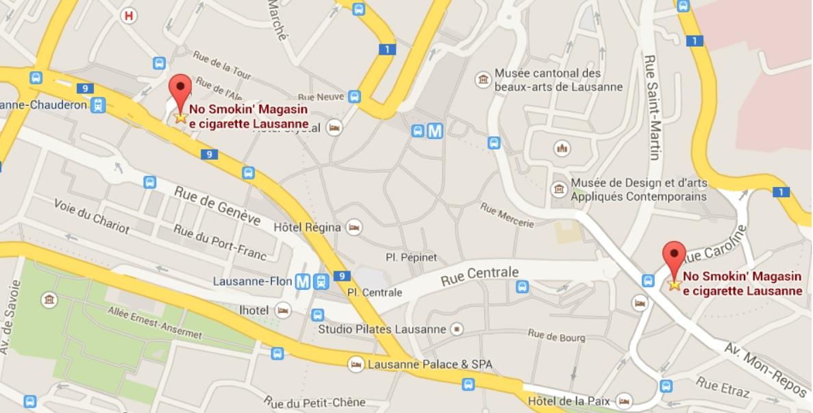 Carte magasin Lausanne rue caroline 6 rue des Terreaux 20