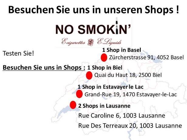Entdecken Sie unsere elektronisches Zigaretten und e-liquids in Basel Zürcherstrasse 91 4052 Basel und Biel Quai du haut 18, 2500 Biel