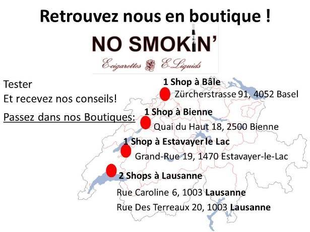 nos magasins de cigarettes électroniques suisse à Lausannne Renens Vevey Bienne et Bâle